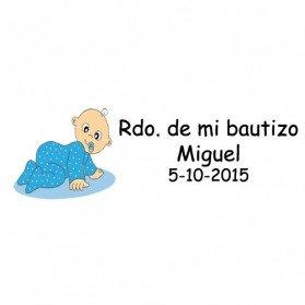Lote 30 Tarjetas Precortadas para detalle de Bautizo Niño