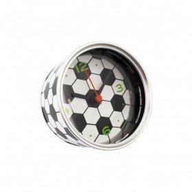 Reloj de aluminio Football presentado en lata