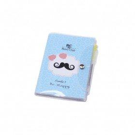 Libreta Notas Pvc Moustache con Bolígrafo