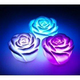 Flor Led Rosa