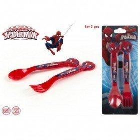 Set 2 Cubiertos PVC Spiderman