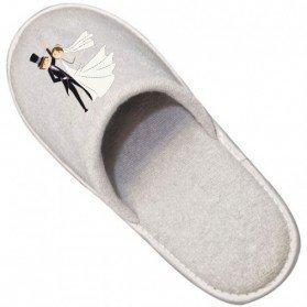 Zapatillas de Algodón para Bodas (Impresión no incluida)