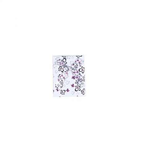 Caja de Regalo Flores Púrpura Lazo